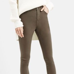 Topshop Moto 'Leigh' Skinny Jeans Green